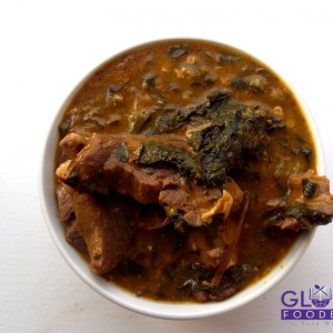 OGBONO SOUP WITH OKRO