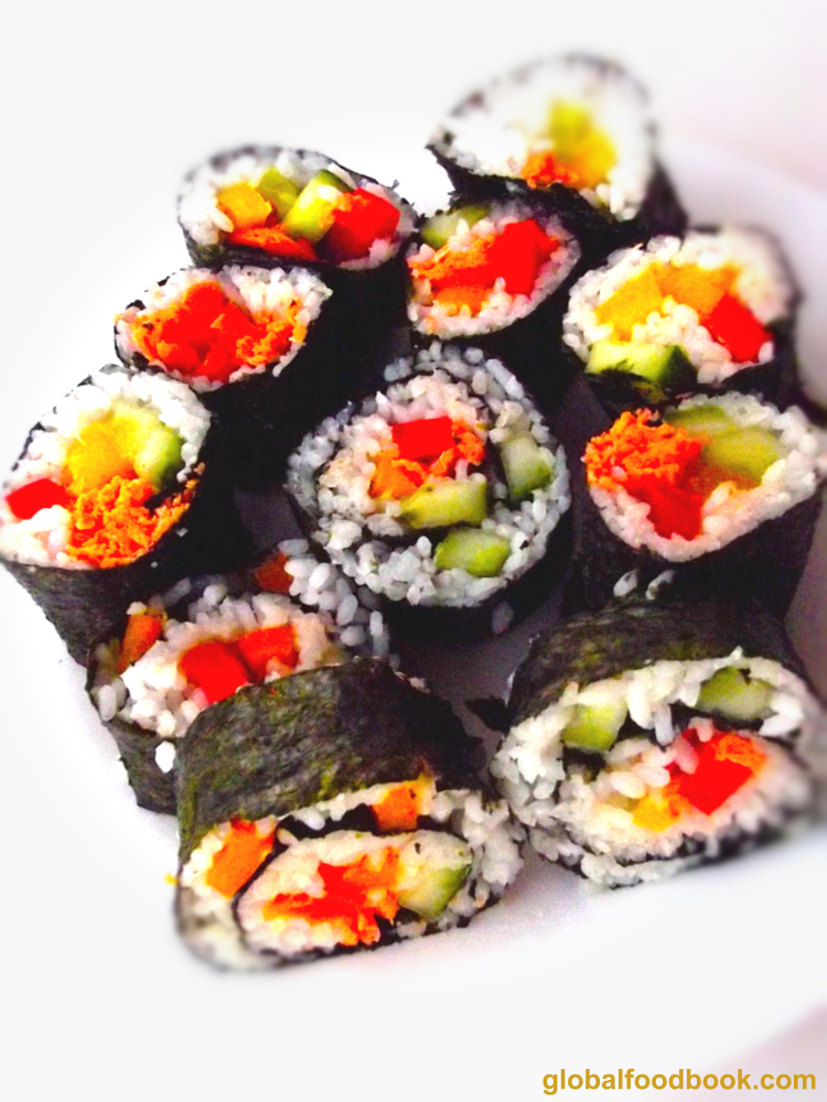 Salmon and Vegetable Sushi Recipe