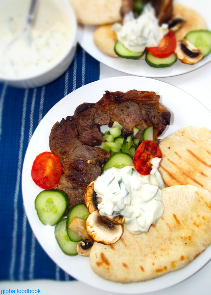 Grilled Steak With Yoghurt Cream