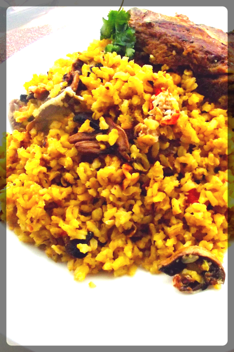Mexican Brown Rice With Steak