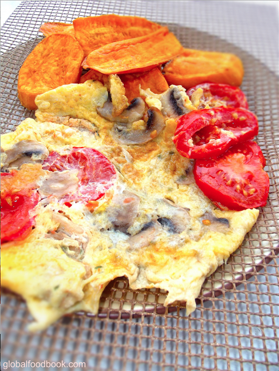 FRIED POTATOES WITH OMELETTE