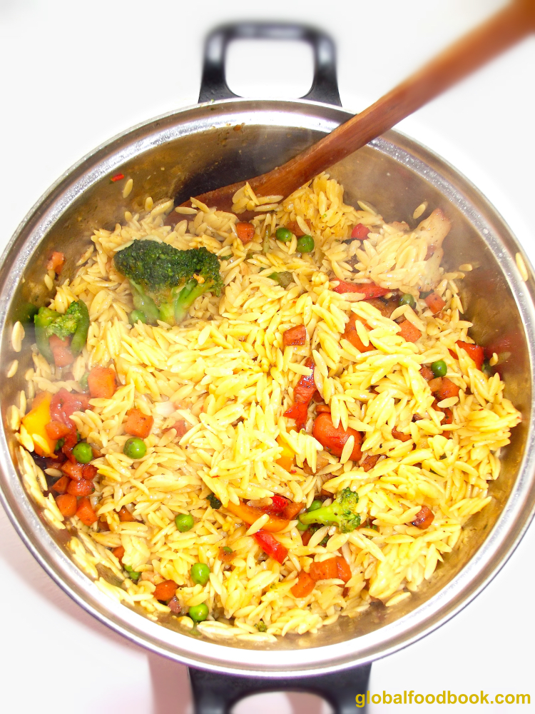 Italian Vegetable Orzo Rice
