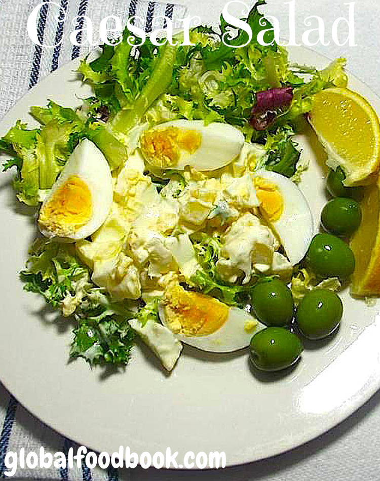 Caesar Salad With Hard Boiled Eggs