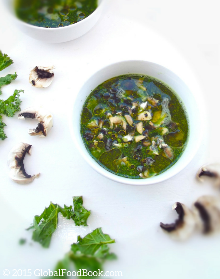 Kale and Mushroom Soup Recipe