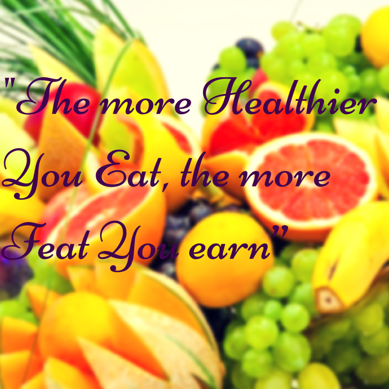 The more Healthier You Eat, the more