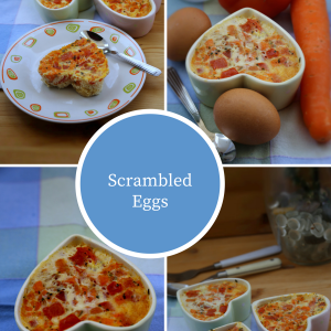 Microwave Scrambled Eggs With Chopped Tomatoes And Carrots