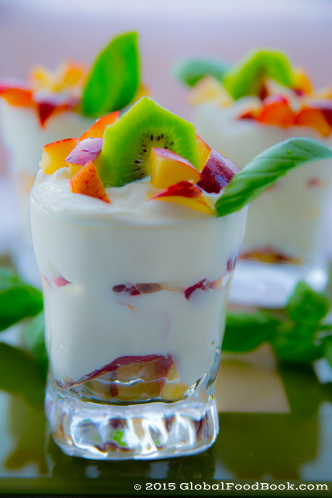 apple, kiwi and plum yogurt