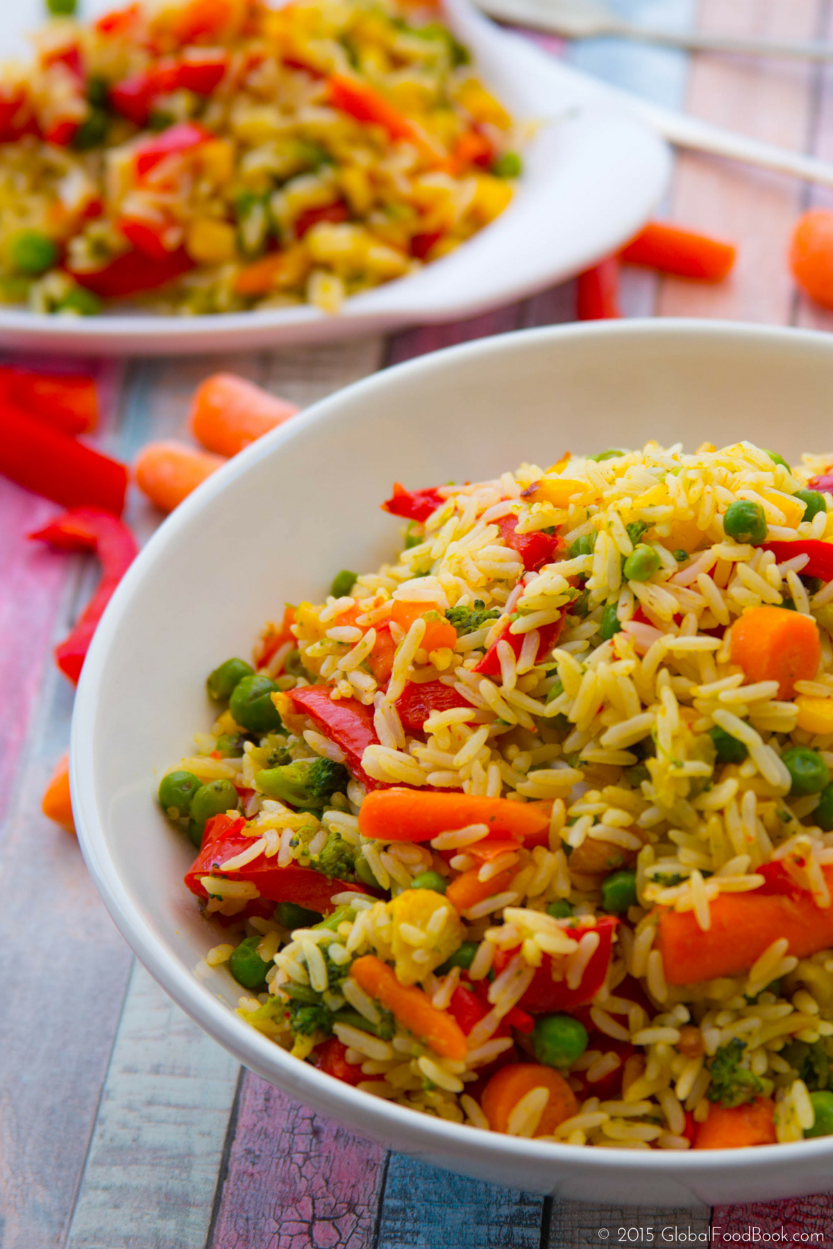 spicy vegetable fried rice.
