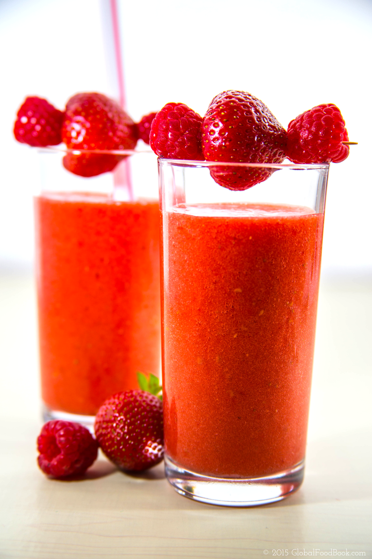 Strawberry and raspberry smoothie