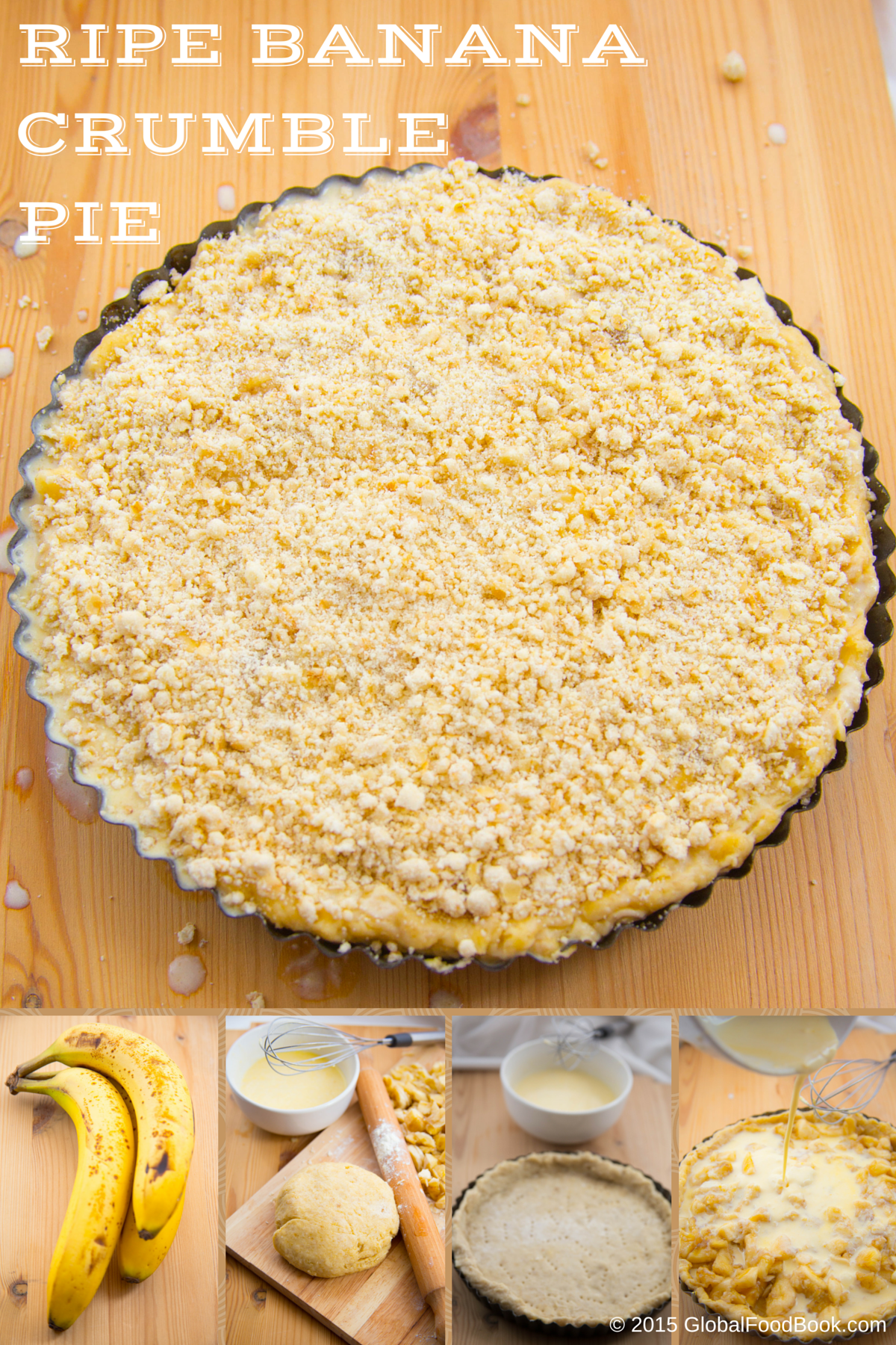 RIPE BANANA  CRUMBLE PIE