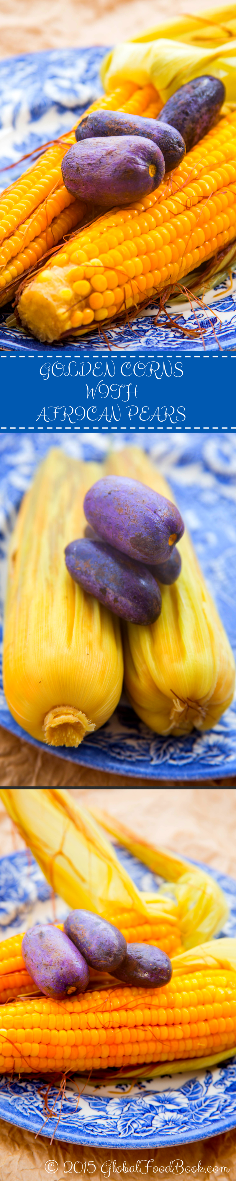 GOLDEN CORNS WITH AFRICAN PEARS