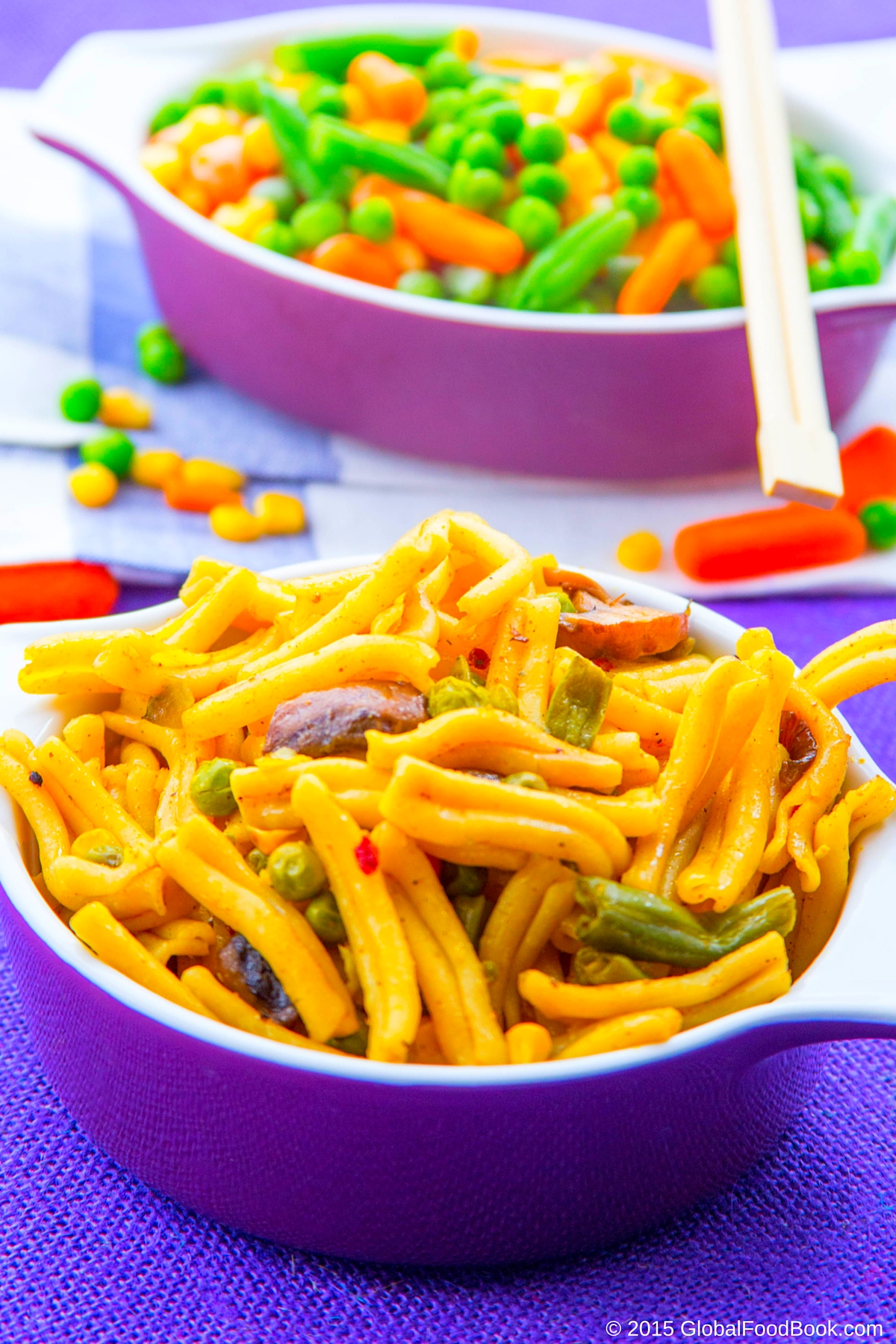 CASARECCE PASTA WITH VEGETABLES