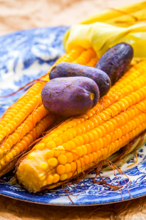 SWEET CORN WITH AFRICAN PEAR (OKA NA UBE)