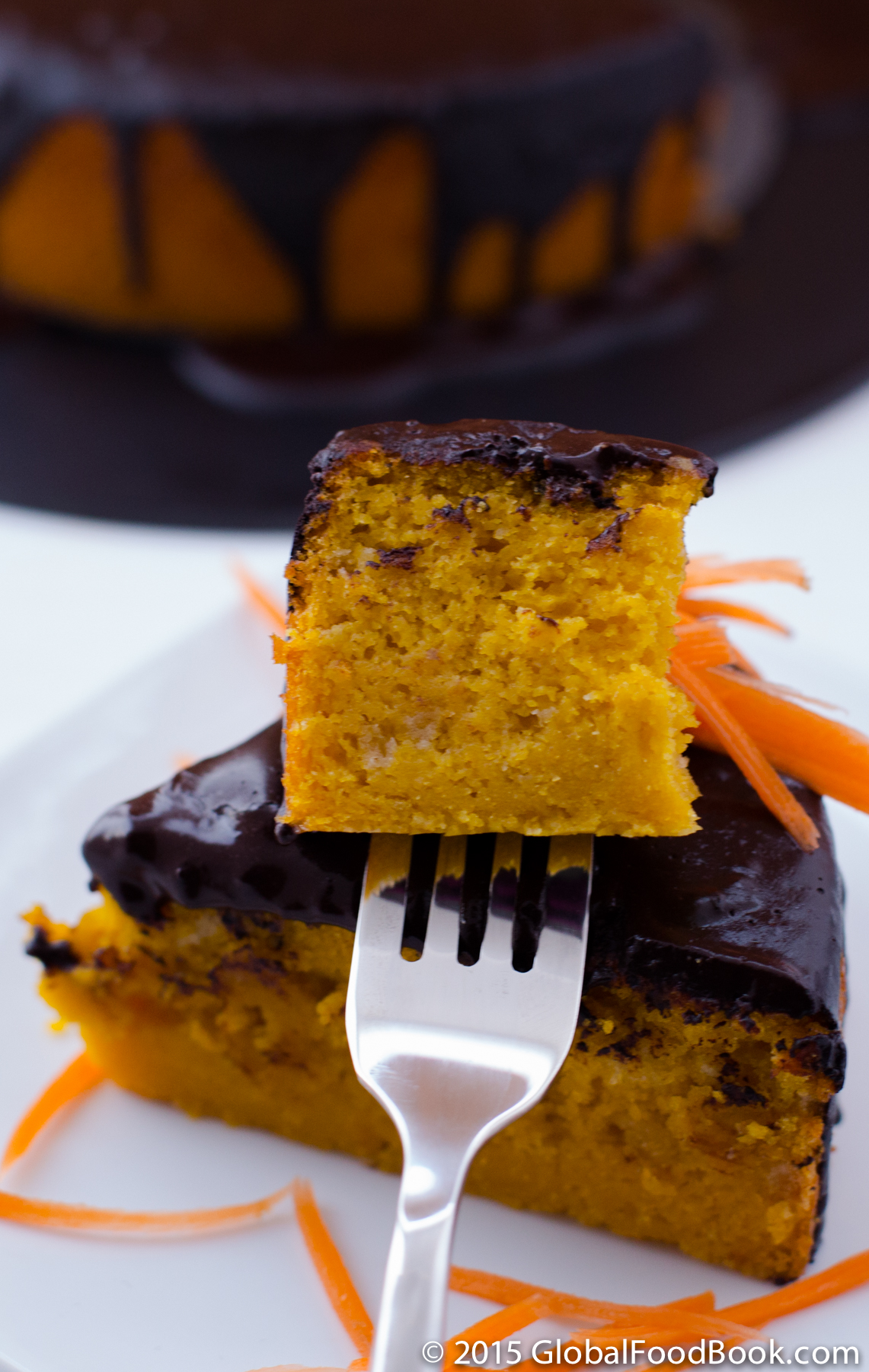 Brazilian carrot cake with chocolate icing-13