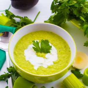 LEEK, PARSLEY AND AVOCADO SOUP