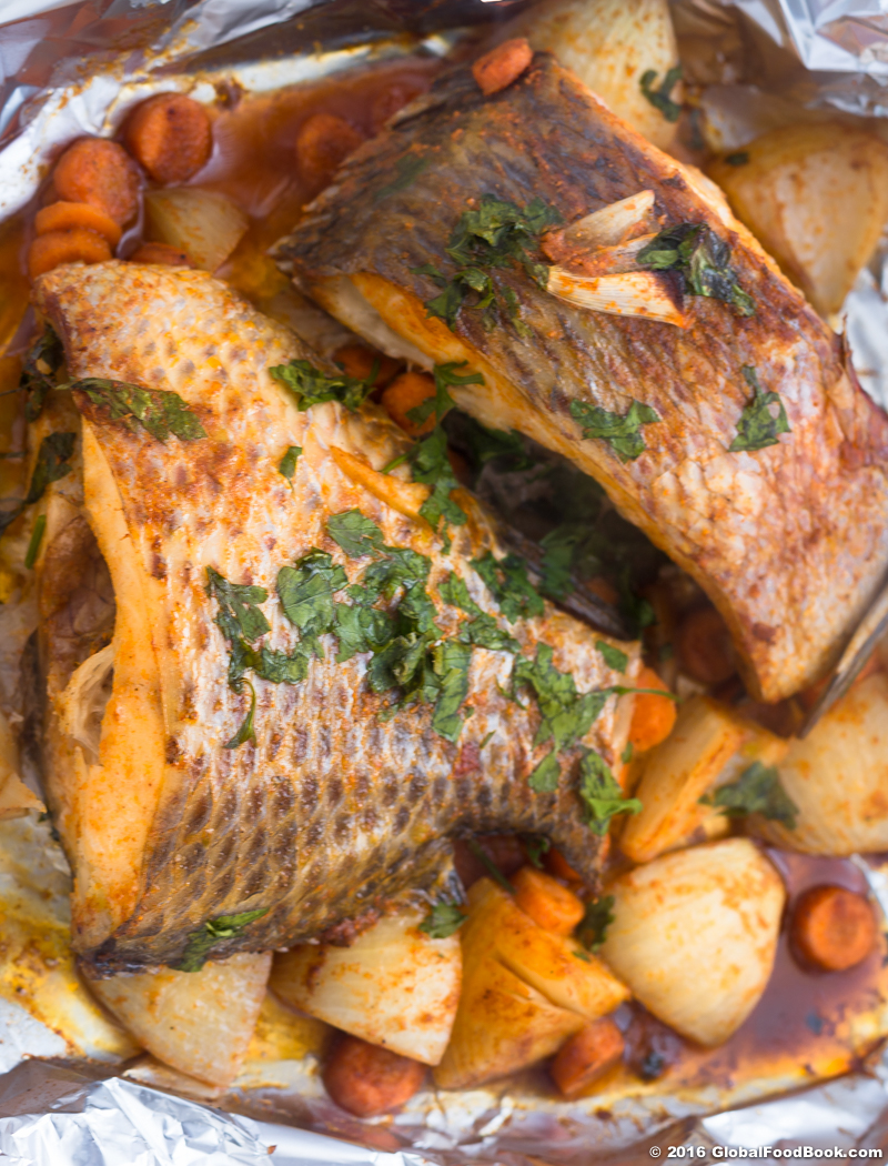 Oven roasted Croaker fish-5