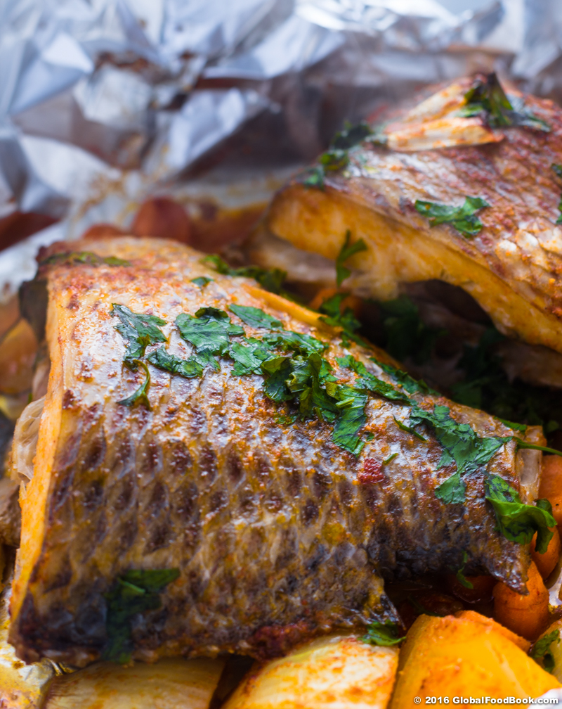 Oven roasted Croaker fish-7