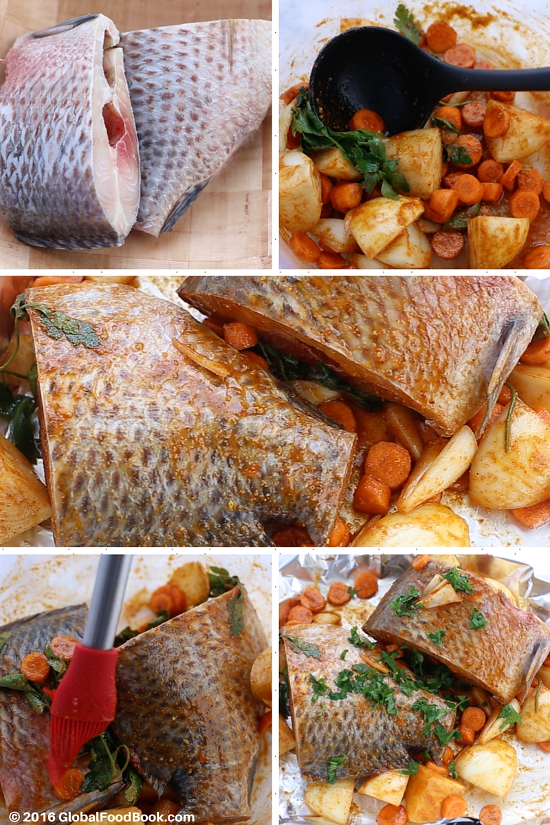 oven roasted croaker fish