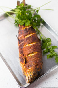 WHOLE ROASTED SALMON