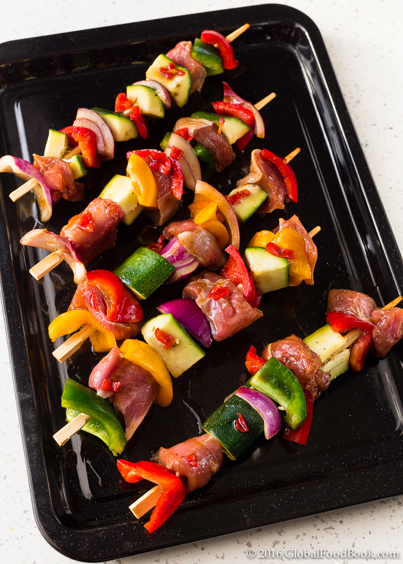 grilled turkey and vegetable kabobs-2