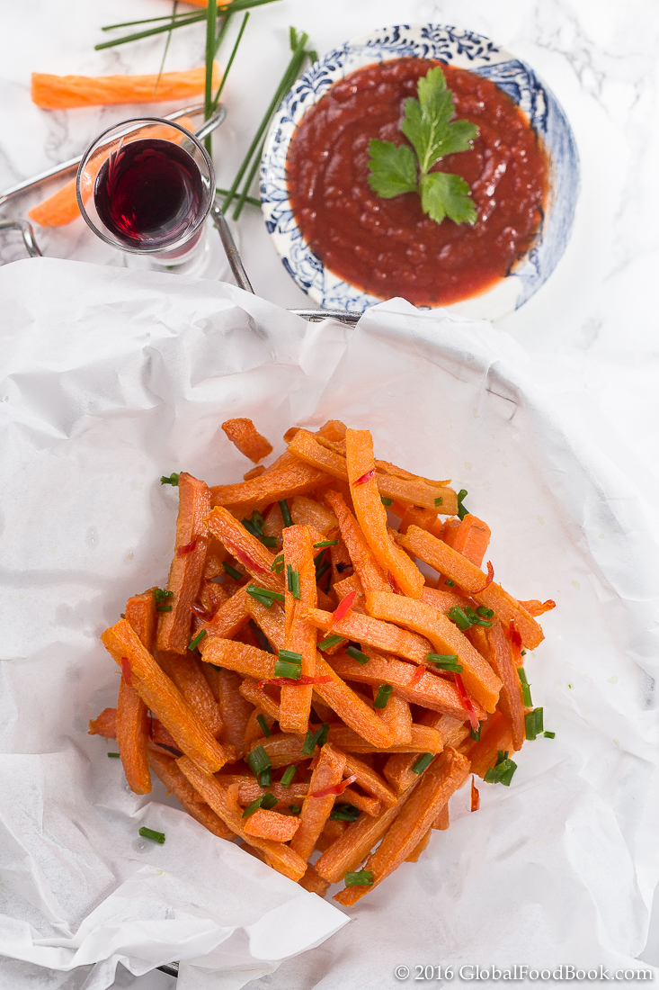 fried carrot chips