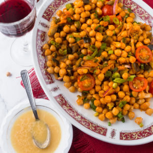 MOROCCAN CHICKPEA AND VEGETABLES