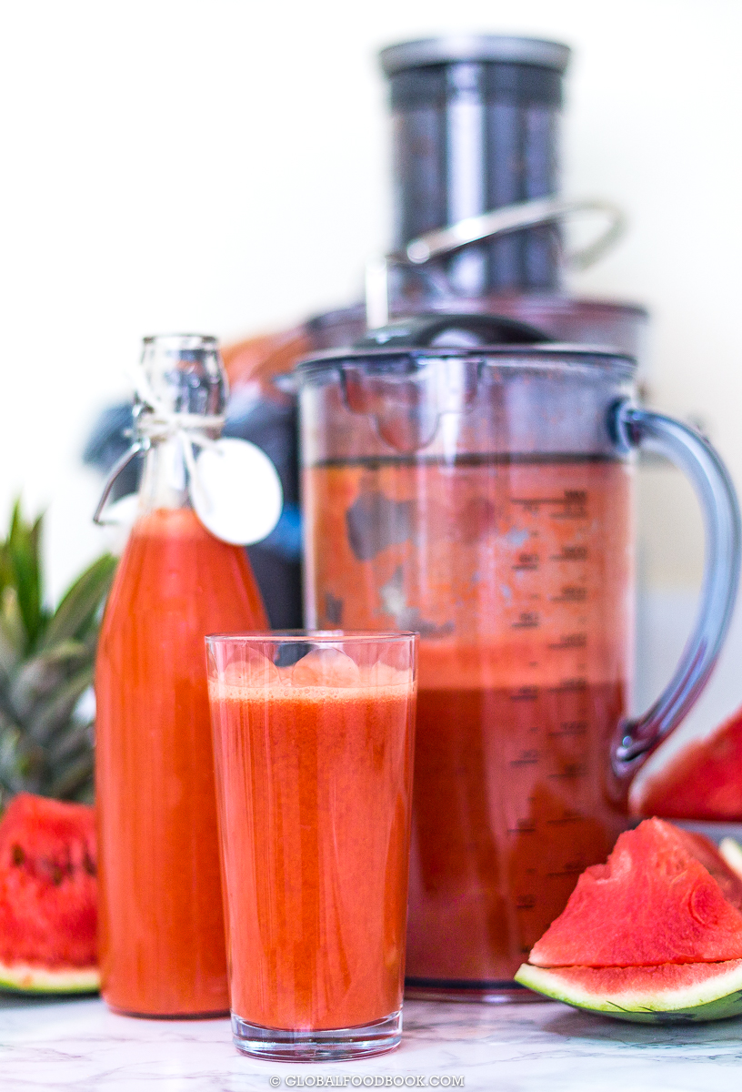 PINEAPPLE, WATERMELON AND CARROTS JUICE