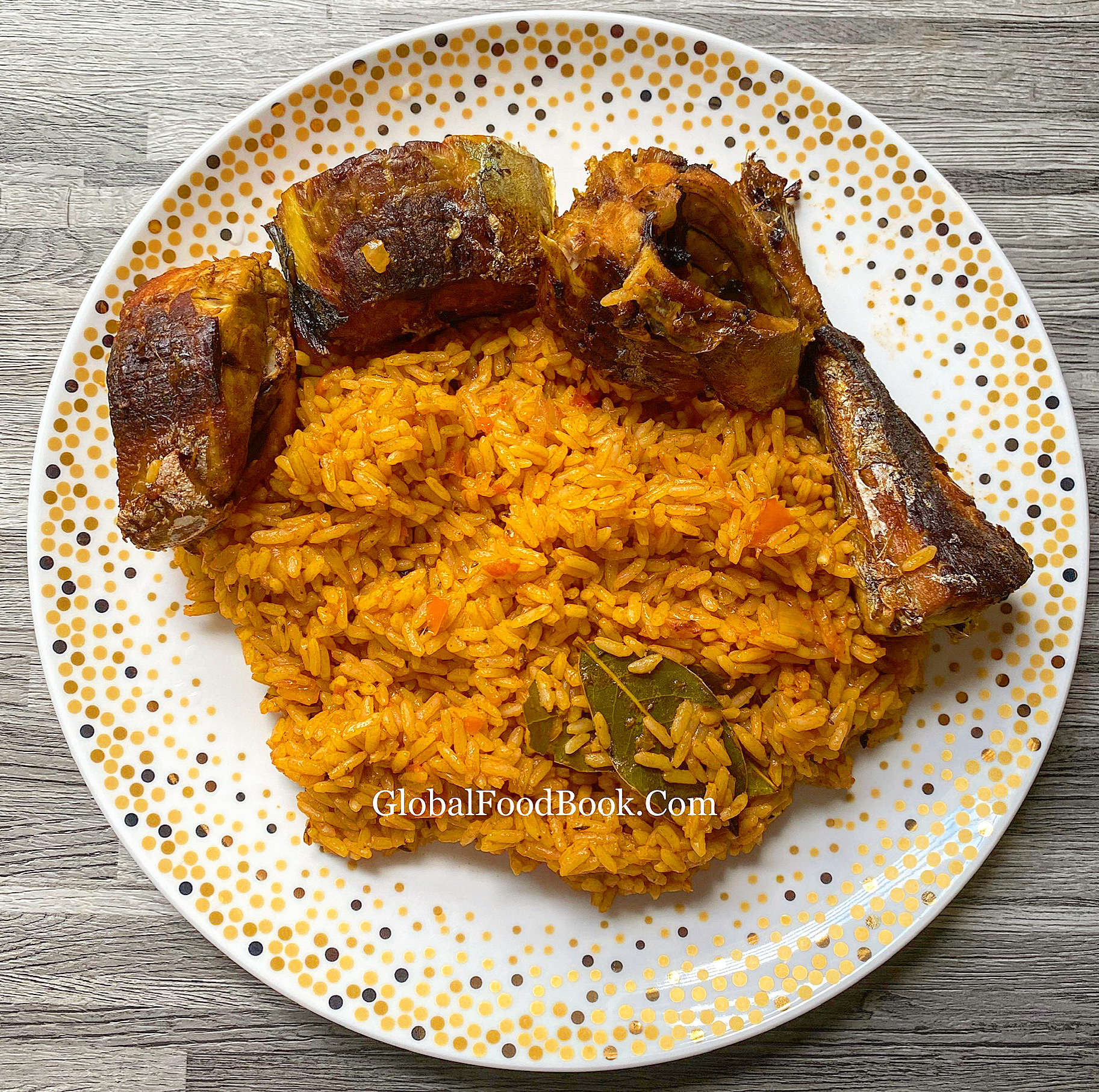 JOLLOF RICE AND FRIED FISH