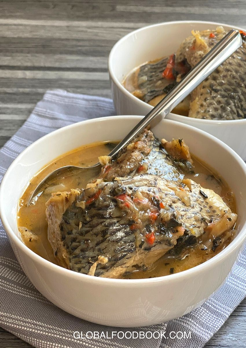 TILAPIA FISH AND DRIED STOCKFISH PEPPER SOUP
