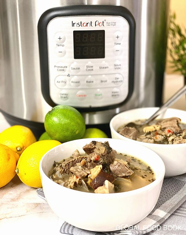 INSTANT POT GOAT SOUP FOR COLD & FLU