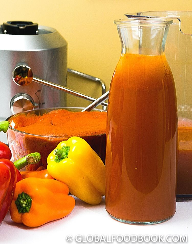 HOW TO JUICE BELL PEPPERS AND SWEET PEPPERS FOR COOKING